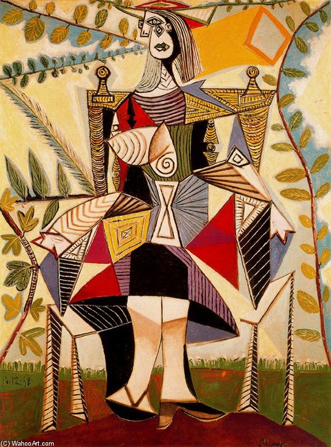 famous painting Woman standing in a garden of Pablo Picasso