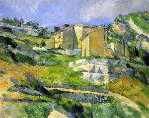 Paul Cezanne - Houses in Provence - the Riaux Valley near L'Estaque