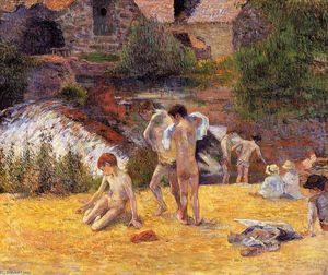 Paul Gauguin - The Moulin du Bois d'Amour Bathing Place