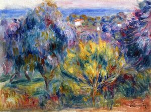 Pierre-Auguste Renoir - Landscape with a View of the Sea