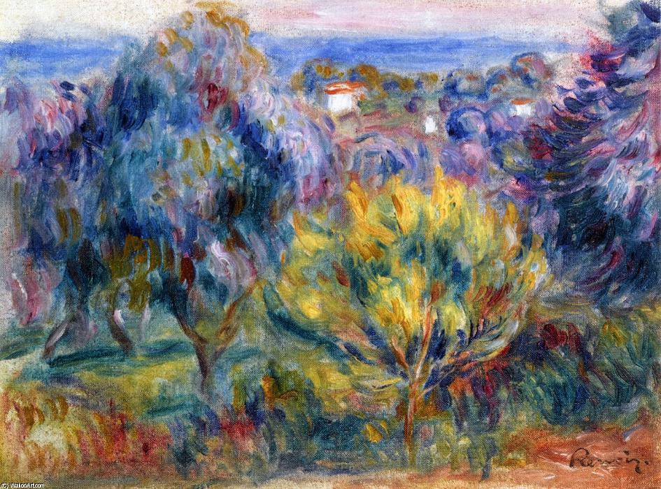 famous painting Landscape with a View of the Sea of Pierre-Auguste Renoir
