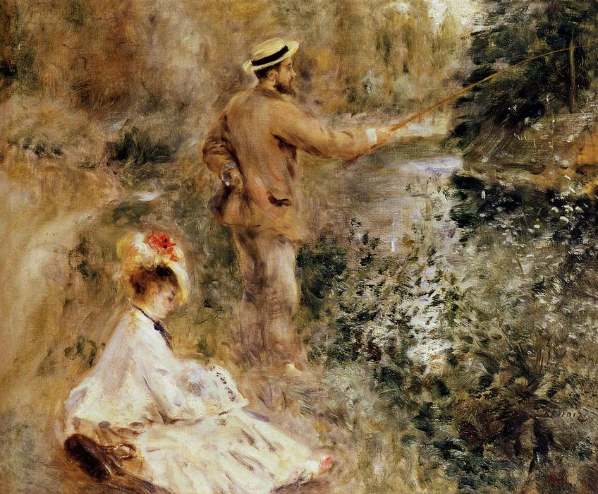 famous painting The Fisherman of Pierre-Auguste Renoir