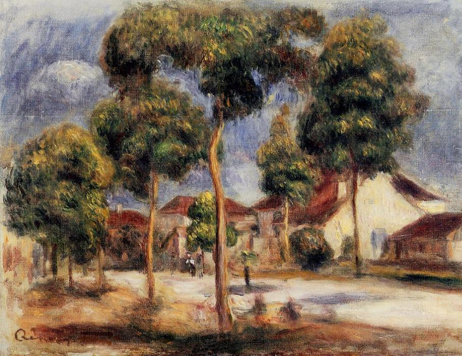 Order Paintings Reproductions | The Sunny Street by Pierre-Auguste Renoir | AllPaintingsStore.com