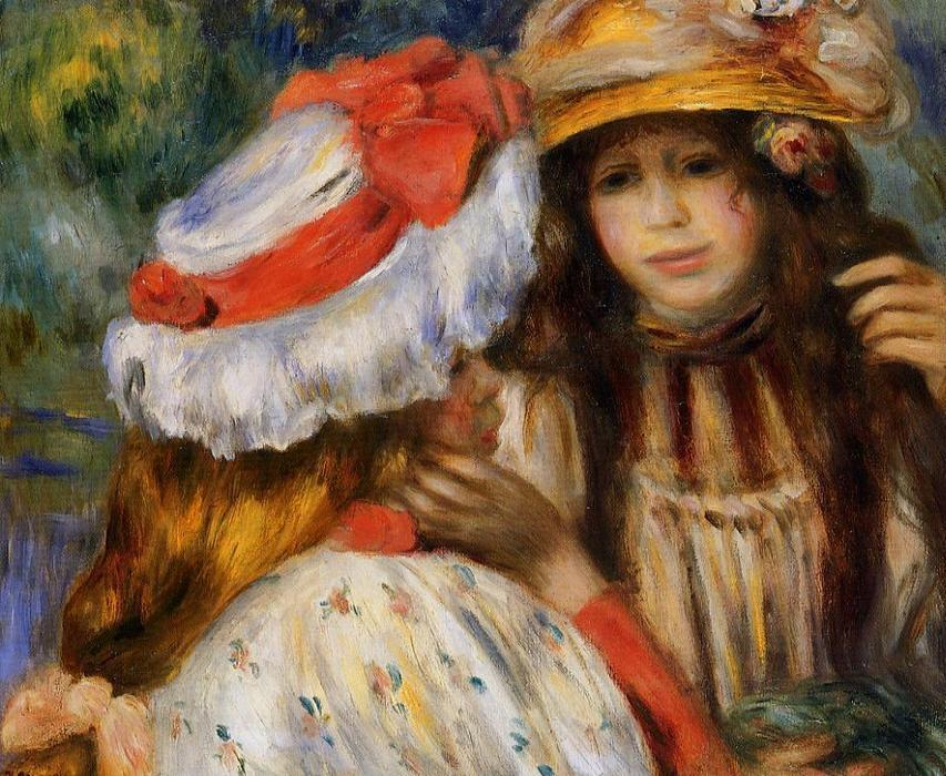 famous painting Two Sisters 1 of Pierre-Auguste Renoir