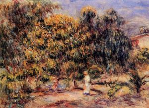 Pierre-Auguste Renoir - Woman in White in the Garden at Colettes
