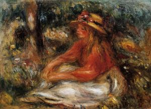 Pierre-Auguste Renoir - Young Woman Seated on the Grass