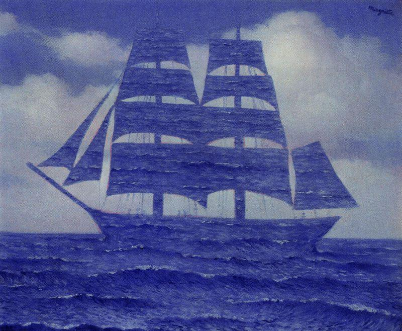 famous painting The seductive of Rene Magritte