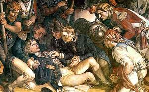 Daniel Maclise - The Death of Nelson (detail)