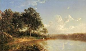 David Johnson - Afternoon along the Banks of a River