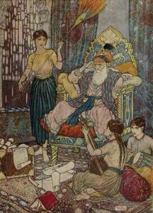 Edmund Dulac - The Rubaiyat. Peace to Mahmud on his golden Throne!