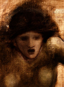 Edward Coley Burne-Jones - Study For One Of The Gorgons In The Finding Of Perseus