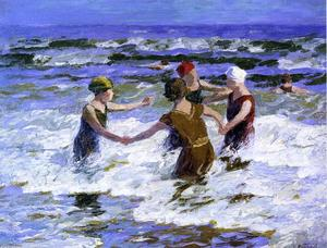 Edward Henry Potthast - Beach Fun