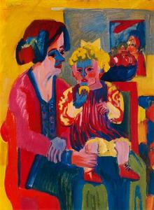 Ernst Ludwig Kirchner - Girl with baby