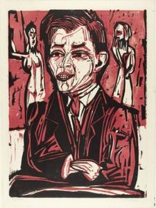 Ernst Ludwig Kirchner - Portrait of Will Grohmann, Large