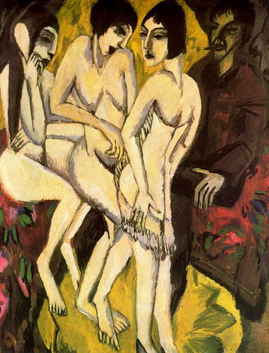famous painting The Judgement of Paris of Ernst Ludwig Kirchner