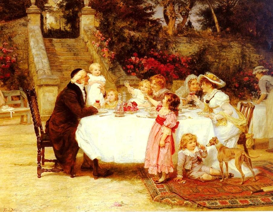 famous painting His First Birthday of Frederick Morgan