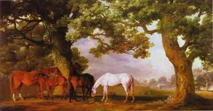 George Stubbs - Mares and Foals in a Wooded Landscape