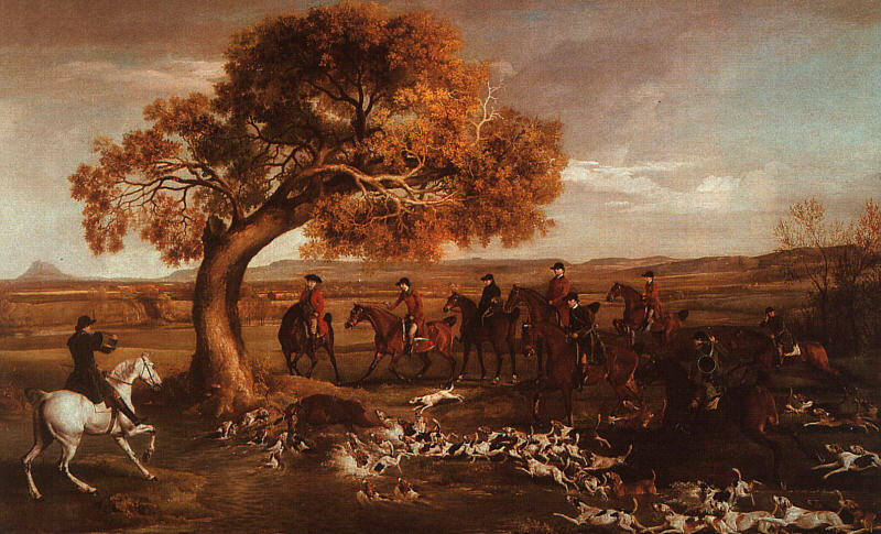 Buy Museum Art Reproductions | The Grosvenor Hunt by George Stubbs | AllPaintingsStore.com