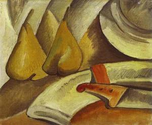 Georges Braque - Napkin, knife and pored