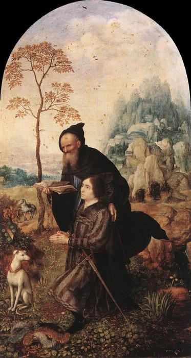 famous painting St Anthony with a Donor of Jan Gossaert (Mabuse)