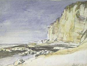 Johan Barthold Jongkind - View of cliffs and the beach at Etretat