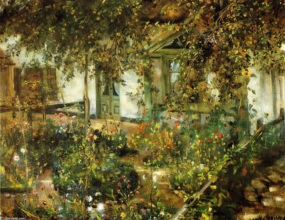 famous painting Farmyard in Bloom of Lovis Corinth (Franz Heinrich Louis)