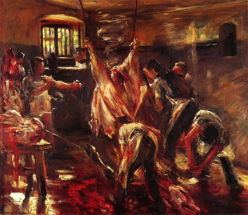 famous painting In the Slaughter House of Lovis Corinth (Franz Heinrich Louis)