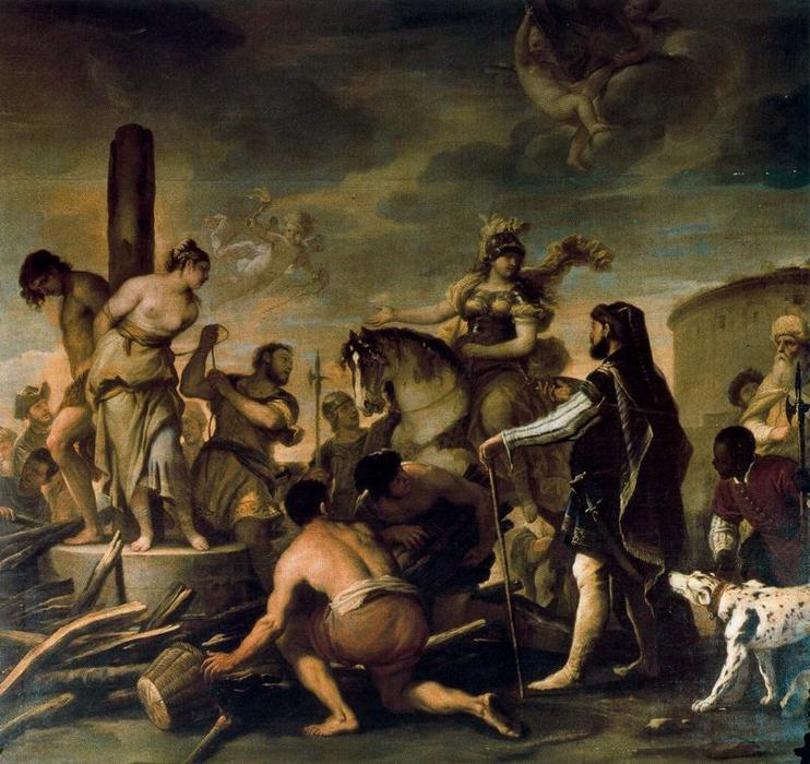 famous painting Olindo and Sophronia of Luca Giordano