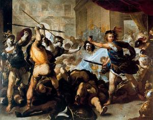 Luca Giordano - Perseus fights against Phineus and his fellow