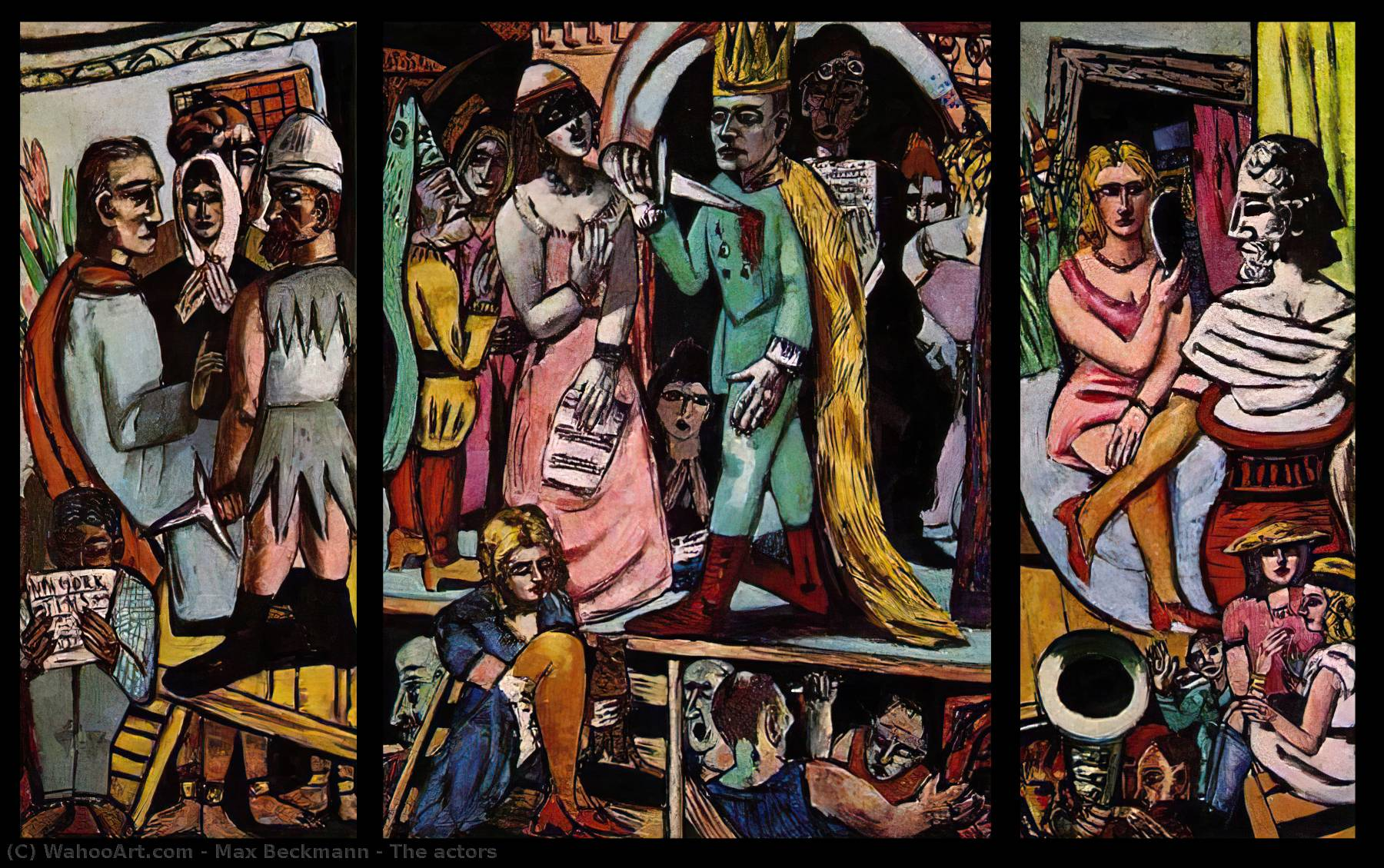famous painting The actors of Max Beckmann