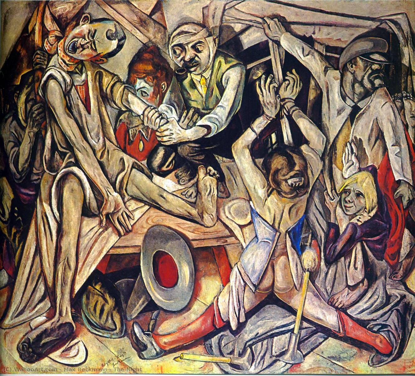 famous painting The Night of Max Beckmann