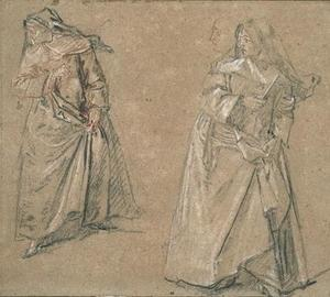 Nicolas Lancret - Two studies of a nun