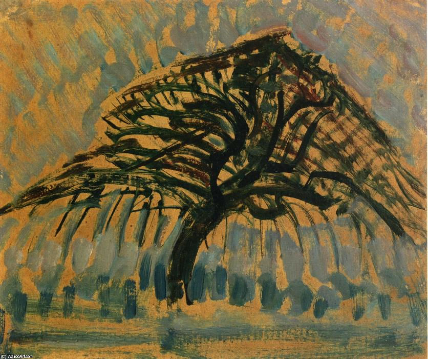 famous painting Study for Blue Apple Tree Series of Piet Mondrian