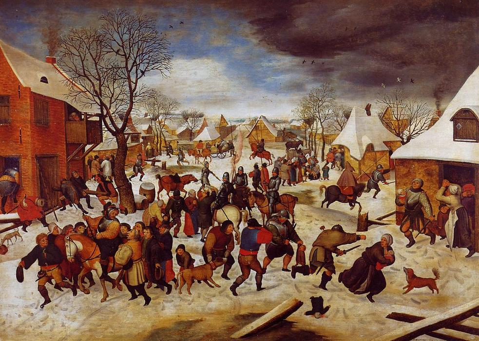 famous painting The Massacre of the Innocents of Pieter Bruegel The Younger