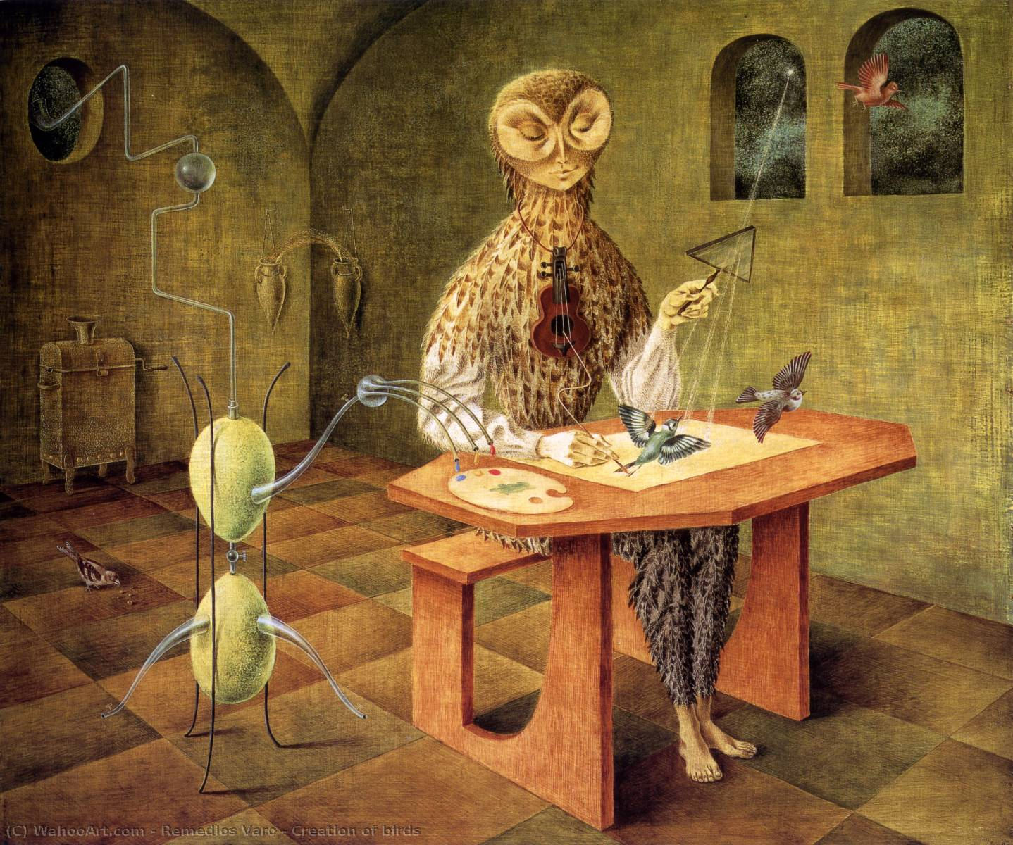 famous painting Creation of birds of Remedios Varo