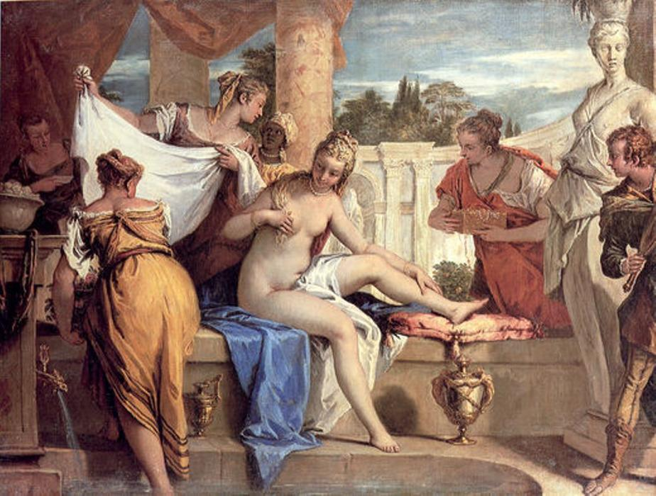 famous painting Bathsheba in her Bath of Sebastiano Ricci