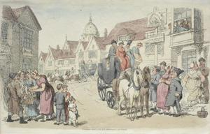 Thomas Rowlandson - Dolphins Inn; Greenwich and Woolwich Coaches
