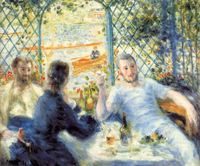 famous painting The Canoeist's Luncheon of Pierre-Auguste Renoir