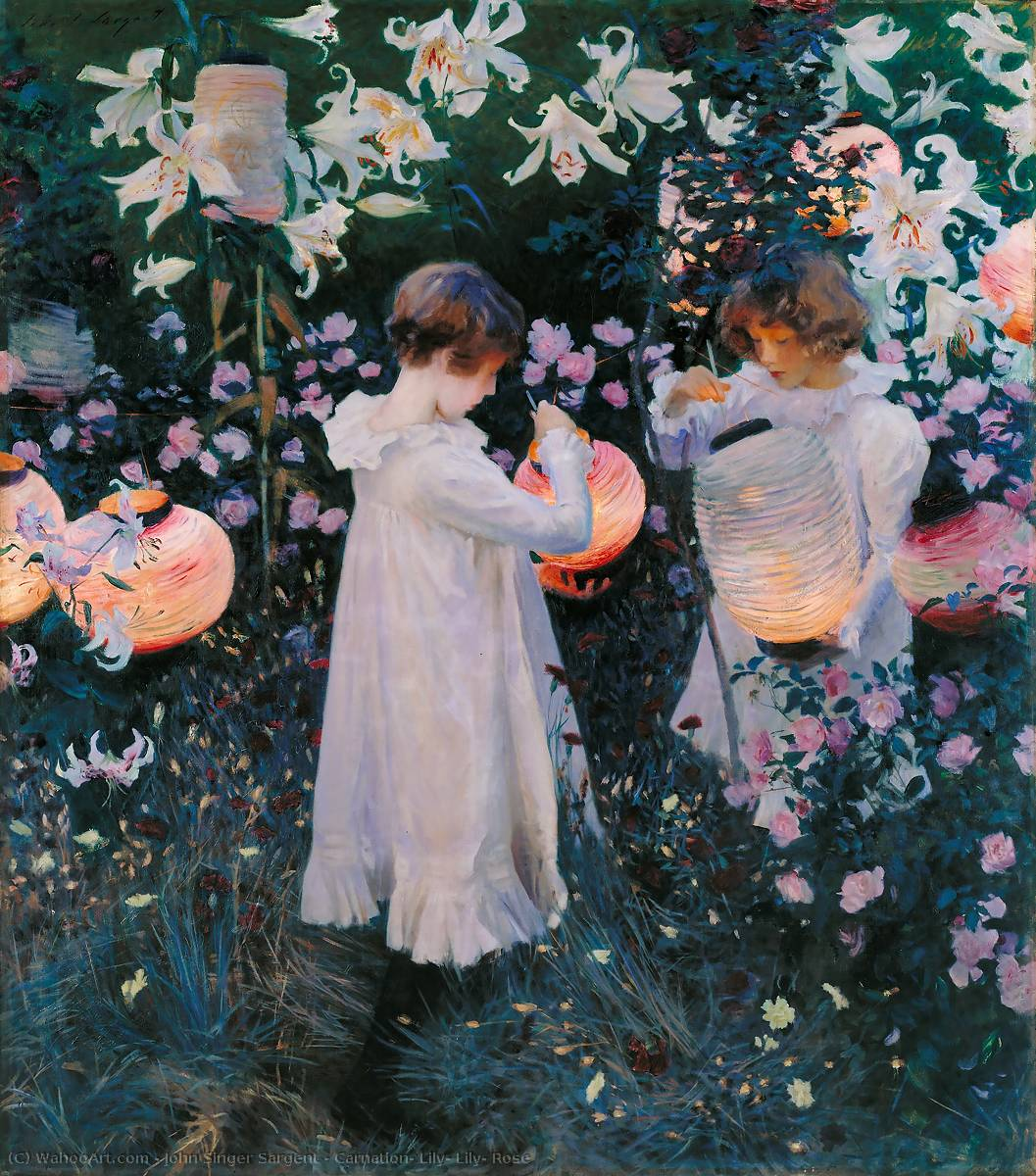 famous painting Carnation, Lily, Lily, Rose of John Singer Sargent
