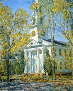 Frederick Childe Hassam - Church at Old Lyme