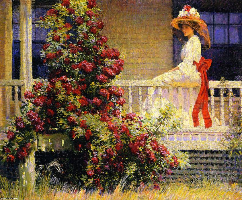 famous painting The Crimson Rambler of Philip Leslie Hale