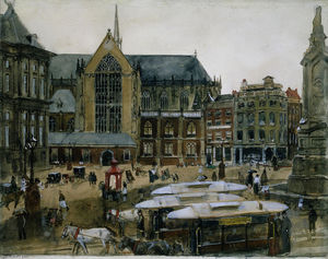 George Hendrik Breitner - The Dam in Amsterdam