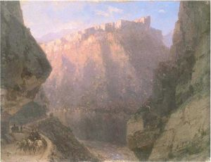 Ivan Aivazovsky - The Daryal canyon