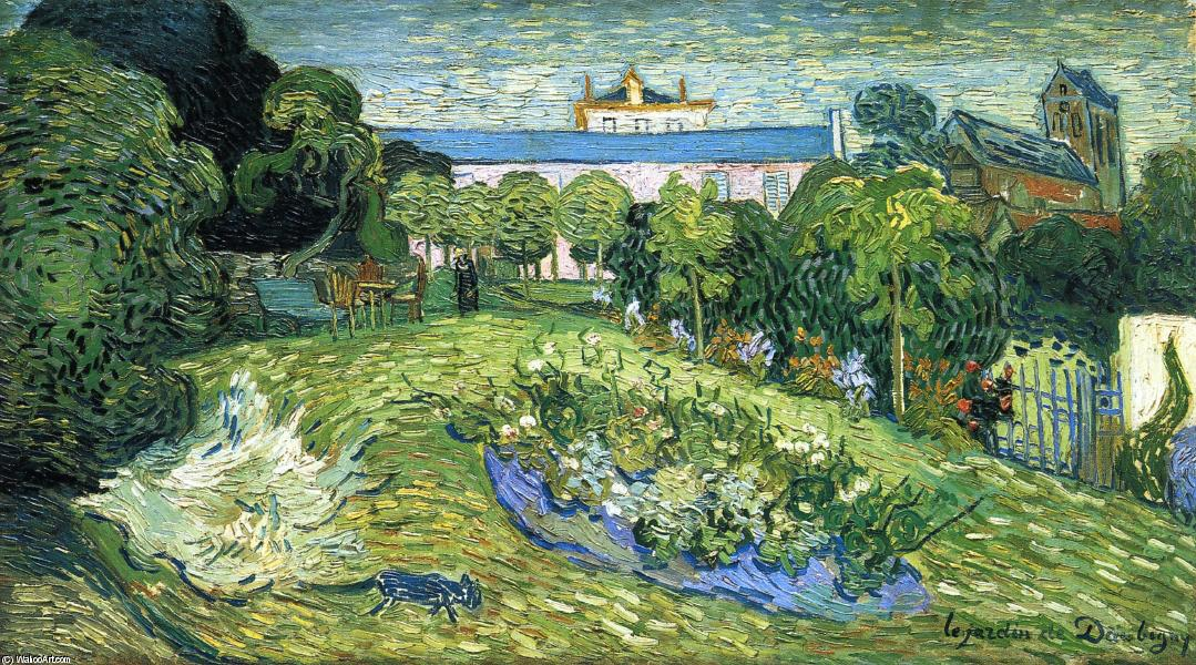 Buy Museum Art Reproductions | Daubigny's Garden by Vincent Van Gogh | AllPaintingsStore.com
