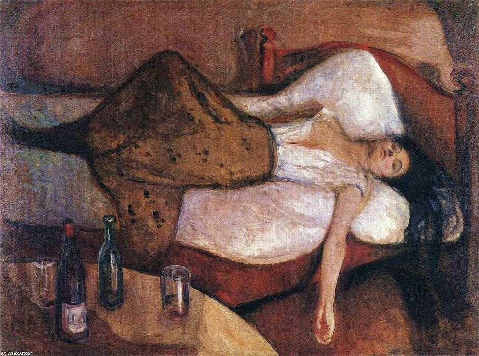 Buy Museum Art Reproductions | The Day After by Edvard Munch | AllPaintingsStore.com