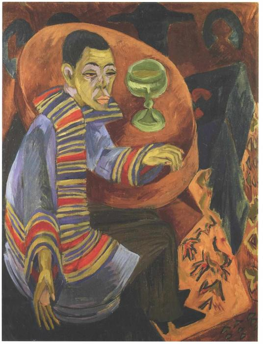 famous painting The Drinker (self-portrait) of Ernst Ludwig Kirchner