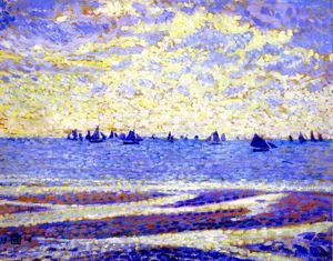 Theo Van Rysselberghe - Fishing Boats in Boulogne (also known as Barques de pêche de Boulogne)