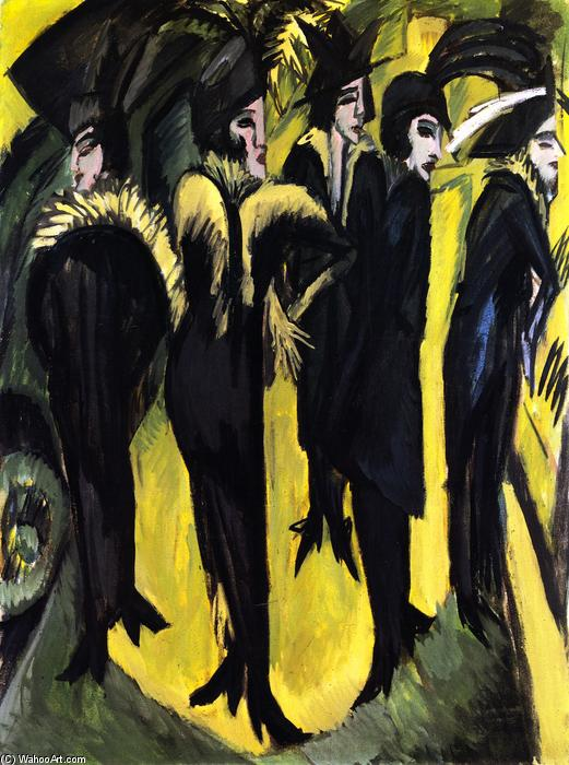 famous painting Five Women on the Street of Ernst Ludwig Kirchner