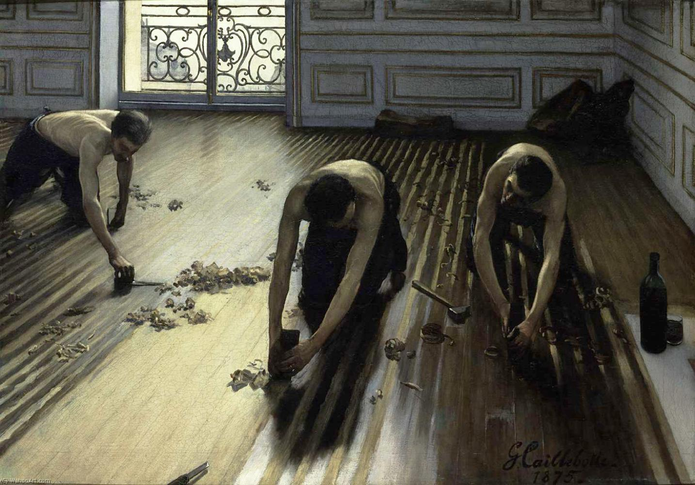 Order Museum Quality Copies | The Floor Scrapers (also known as The Floor Strippers) by Gustave Caillebotte | AllPaintingsStore.com
