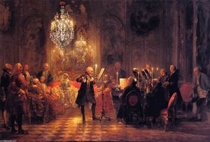 Adolph Menzel - The Flute Concert of Frederick the Great at Sanssouci